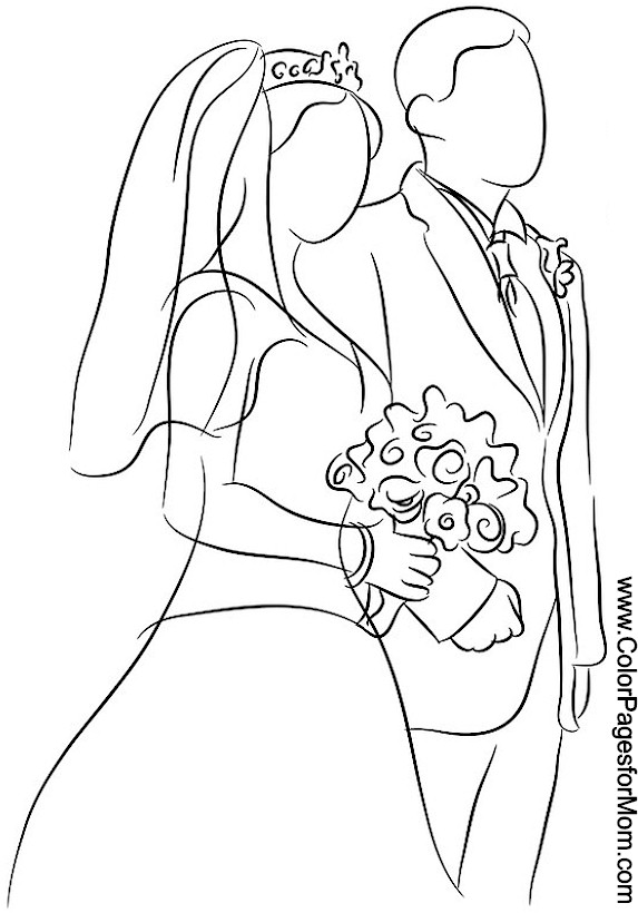 wedding coloring page 5