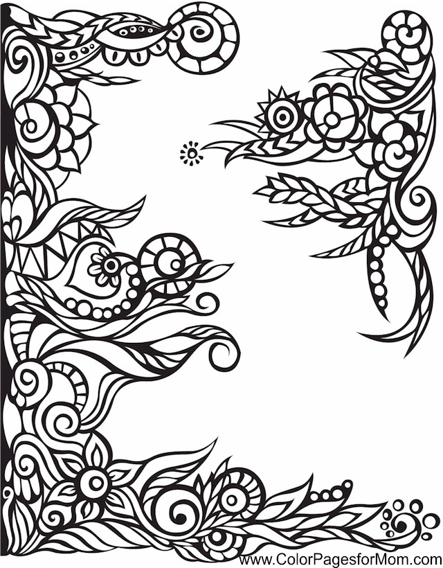 whimsical flowers coloring pages - photo#33