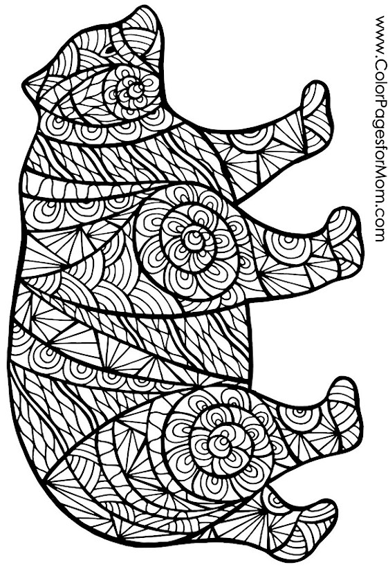 Animals 68 Advanced Coloring Page