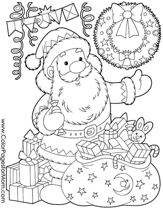 Christmas Coloring Page for Adults - Santa