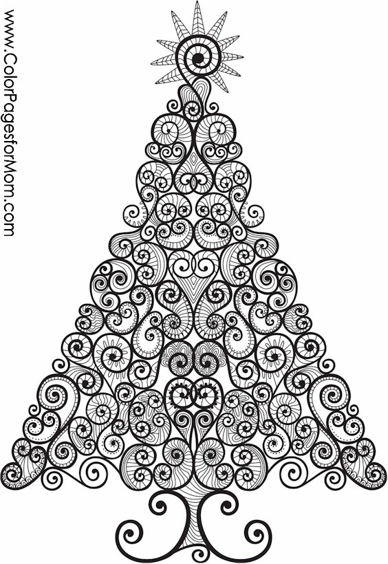Christmas Coloring Page For Adults Christmas Tree