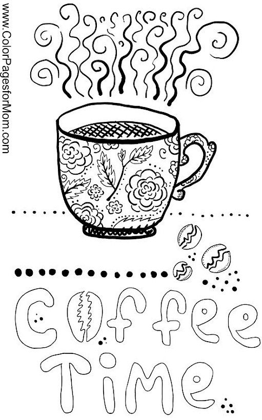 Coloring pages for adults - coffee coloring page 21