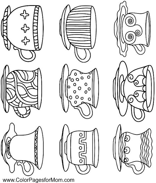 Coloring pages for adults - coffee coloring page 23