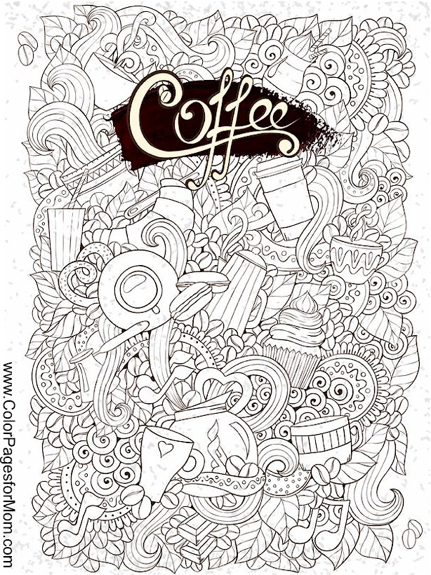 Coloring Pages For Adults Coffee Coloring Page 29