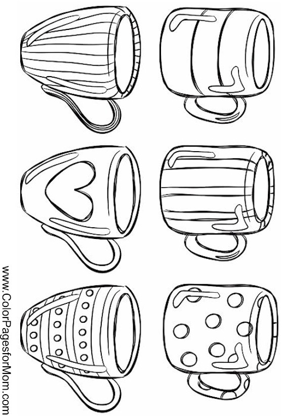Coloring Pages For Adults Coffee Coloring Page 31