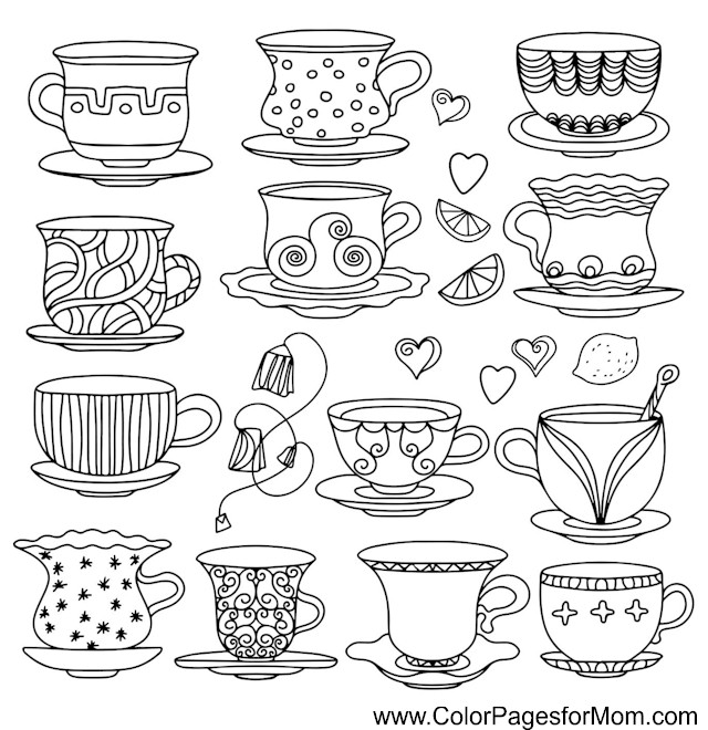 Coloring Pages For Adults Coffee Coloring Page 37