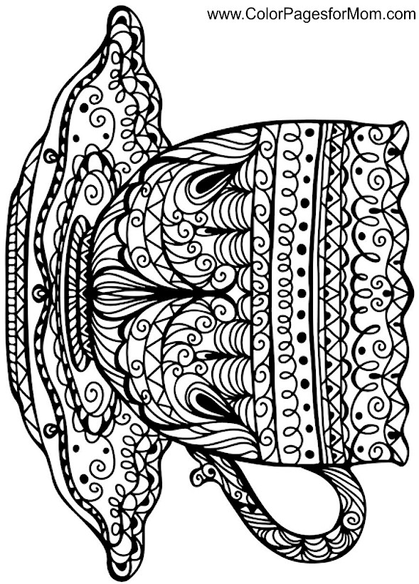 Coloring pages for adults - coffee coloring page 38