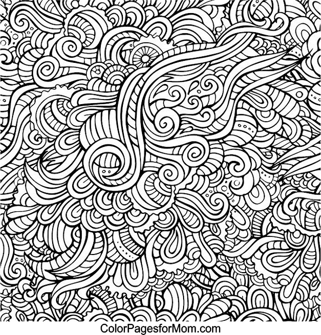 Coloring Pages For Adults Doodle Art : Doodles advanced coloring pages
