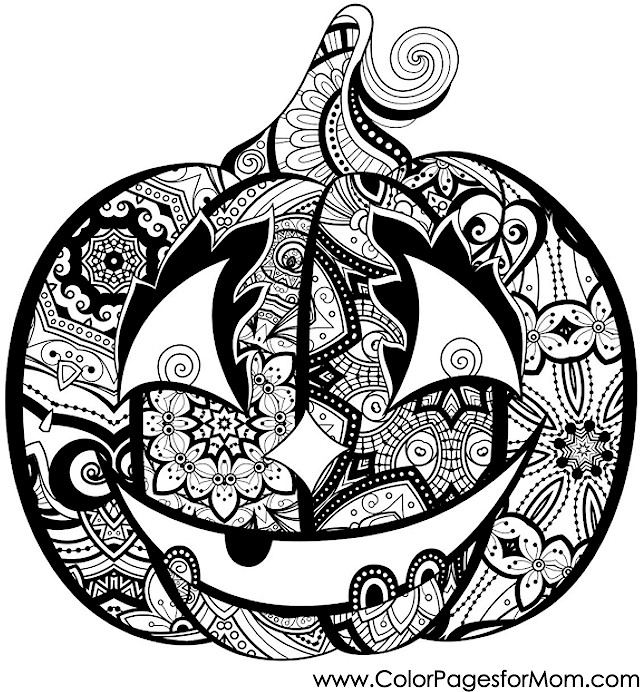 Advanced Coloring Pages Halloween Jack O Lantern Coloring Page