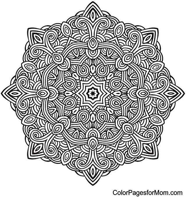 Mandala 10 Advanced Coloring Page
