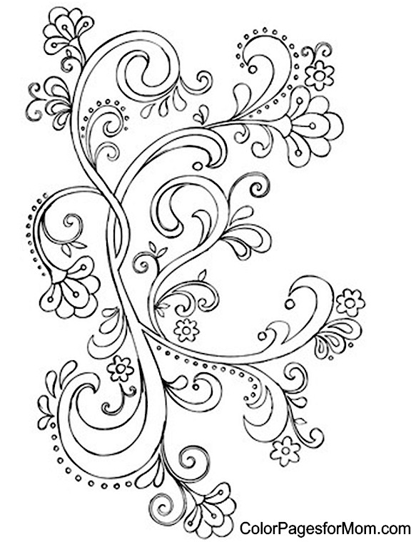 It's just a picture of Dramatic Paisley Coloring Sheet