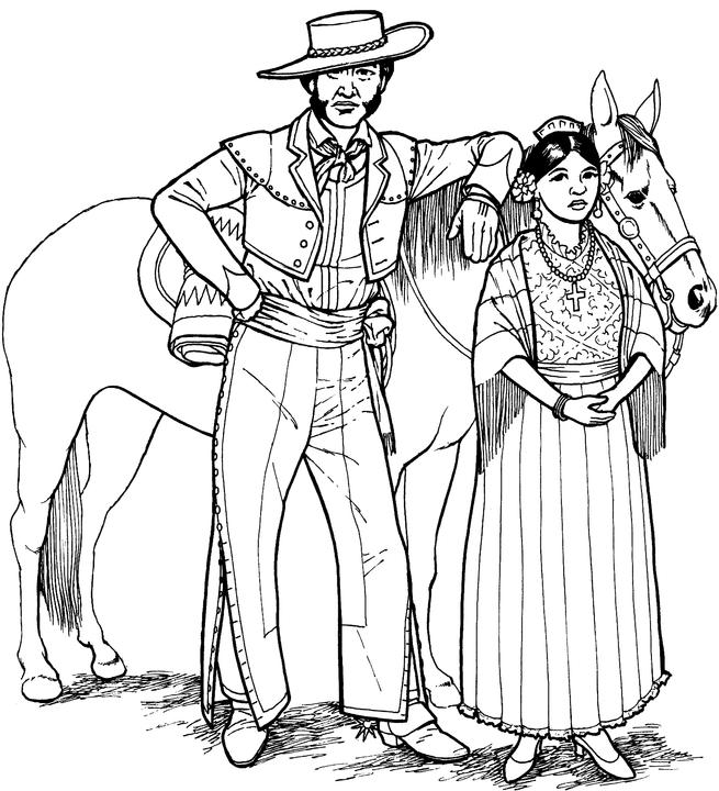 Southwest native american coloring page for Mexican coloring pages for adults