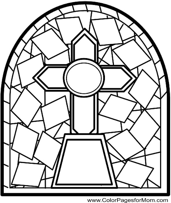 Coloring pages for adults - stained glass coloring page 16
