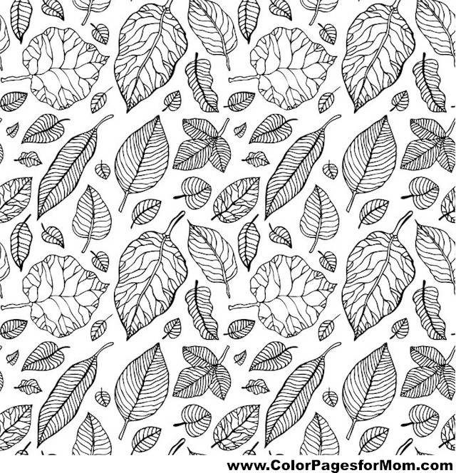 Advanced Leaves Coloring Page 14
