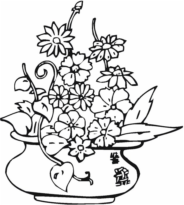 Vase & Pottery Coloring Page