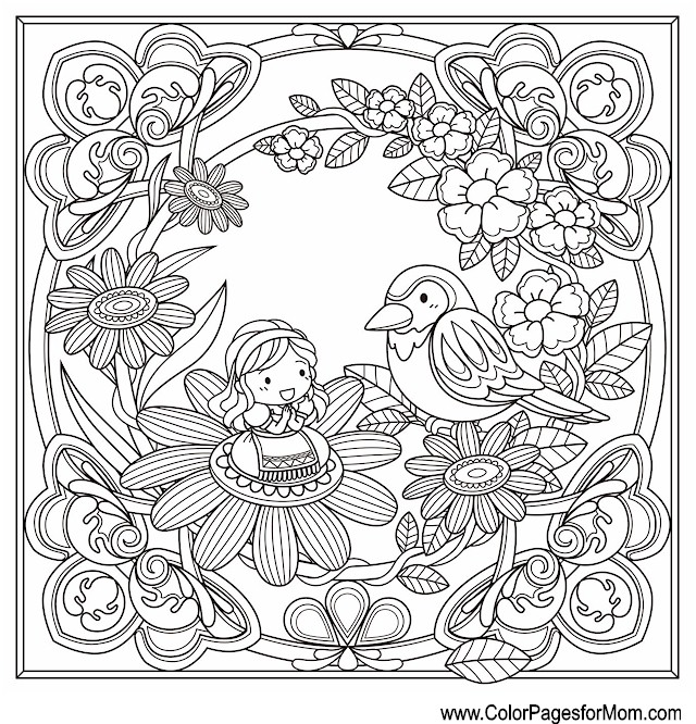 Whimsical Coloring Page 65